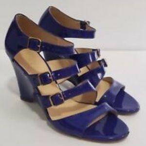 J. Crew Electric Blue Strap Sandal size 9